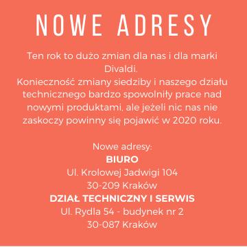 Divaldi – nowe adresy